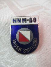Vintage 1960's Norway Skiing Medal silver with enamel NNM-80 Vadso Skiklubb