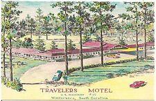 Travelers Motel in Walterboro SC Artist Walter Bowers Postcard