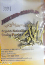 Precision Scale HO #3091 Hangers with Brake Shoes, for Locomotives (Brass)