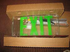 Lithonia Lrp 1 Gc 120/277 Pnl Green Led Edge Lit Exit Sign W Led Lamp 283554