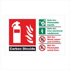 Extintor de ID de fuego CO2 dióxido de carbono signo de seguridad SAV 150 X 200 mm Libre P&P