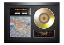 More details for the stone roses signed gold disc album ltd edition framed picture memorabilia
