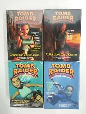 4 Lot Vintage game Tomb Raider Collectible Card Games 1999 Lara Croft Variant