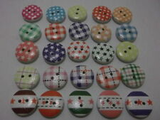 Contemporary (1981-Now) Wood Assorted Theme/ Craft Buttons