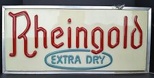 Vintage Rheingold Lager Beer Extra Dry Double Sided Hanging Lighted Sign 24x11