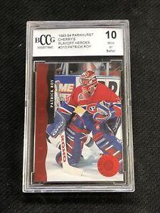 1993-94 PARKHURST CHERRYS PATRICK ROY PLAYOFF HEROES RED FOIL #D-10 BCCG 10