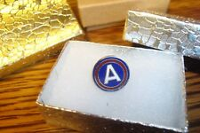"ARMY: 3rd Army Division Lapel Pin-Button Brooch W/Safety Clasp "" CAPT AMERICA """
