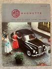 MG MAGNETTE - ONE AND A HALF LITRE SALOON - 18 PAGE CAR BROCHURE