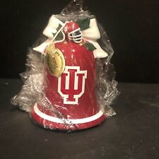 2005 Danbury Mint Indiana Hoosiers Hand Painted Christmas Bell Ornament