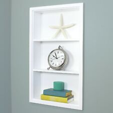 IMPERFECT XL/14x24 White Recessed Sloane Wall Niche with plain back