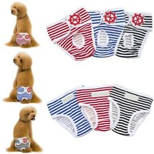 Cute Dog/Cat Sanitary Comfortable Cotton Stripped Pet Incontinence Pants