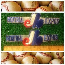 "Montreal Expos MLB Baseball Canada 1969 Throwback Sew/Iron 6"" Logo Lot 2 Patches"