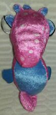"9""2012  High Intensity Prize Cotton Candy Colored Seahorse Plush"