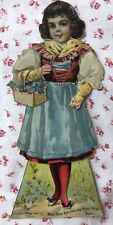 Vintage 1895 Paper Doll None Such New England Mince Meat Merrell-Soule Co 14 Pcs