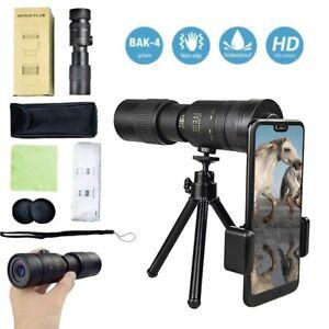 Telescope 300x40mm Zoom Optical HD Lens Monocular Tripod+Clip for Smartphone