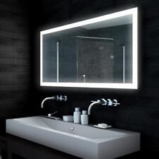 Design Badezimmerspiegel LED Licht Lichtspiegel Bad Wand Spiegel  140 x 65cm