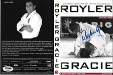 Royler Gracie Signed Jiu-Jitsu DVD Vol. 3 PSA/DNA COA MMA Autograph Pride FC 2 8