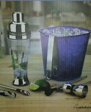 $90 Rabbit Mixology 7-Piece Bartenders Set ELECTRIC Cocktail Shaker Corkscrew