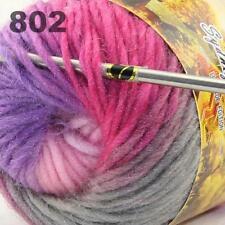 Venta NUEVO 3 skeinsx 50g Arco Iris hilado de lana rápida de punto a mano grueso Chal Bufandas 06