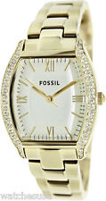 Fossil ES3176 Wallace White Dial Gold Tone Stainless Women's Watch