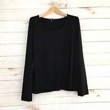 Eileen Fisher XL Black Long Sleeve Blouse Women's Size XL M45