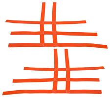 Honda TRX  450R  300EX 300X    Nerf Bar Nets   Fits Alba Tusk Orange B