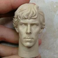 Blank Hot 1/6 Scale Sherlock Holmes Benedict Cumberbatch Head Sculpt Unpainted