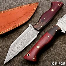 KP-325 Custom Hand forged Damascus Steel Hunting Knife with Micarta Handle