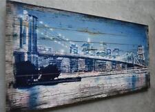 Holzbild NEW YORK Bild Wandbild Vintage Shabby Chic 100 x 50 cm