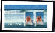 2007 Australia Year Of The Surf Lifesaver Lenticular Mini Sheet FDC, Mint Cond