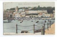 tq1423 - The Inner Harbour and St.John's Church across Bay, Torquay - Postcard