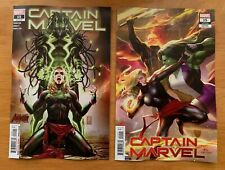 CAPTAIN MARVEL 15  Main + Lee Connecting Variant 1st Cover Vox Supreme  NM+