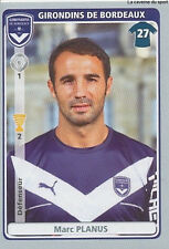 N°061 MARC PLANUS # GIRONDINS BORDEAUX VIGNETTE STICKER  PANINI FOOT 2012
