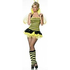 Lady QUEEN BUMBLE BEE Costume Dress Leg Warmers Wings Adult Small Medium 4 6 8