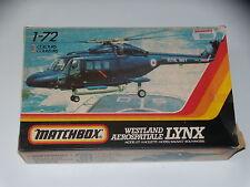 MAQUETTE- WESTLAND AEROSPATIALE LYNX - MATCHBOX - 1/72 - MODEL KIT- COMPLETE