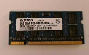 2GB PC2-6400 DDR2 800Mhz 200pin SODIMM