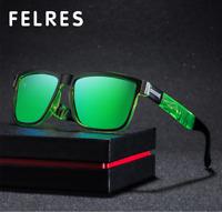 Square Polarized Sport Sunglasses For Men Women Outdoor Driving Fishing Glasses