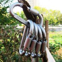 Multifunktions-Aluminium Wandern Camping Haken Karabiner Clip W / Lock Ring Neu