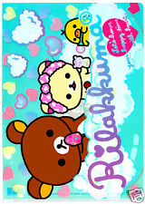 San-x Rilakkuma Heart Bubble Bath Kawaii Plastic File Folder