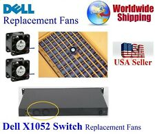 Pack of 2x new replacement fans for Dell X1052 Switch