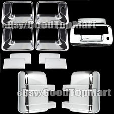 2008-2016 Ford F250 F350 Super Duty Chrome Covers Set 4 Handles Mirrors Tailgate