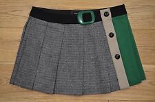 Gorgeous River Island Black/Green Pleated Wool Skirt.Size 12.Excellent Condition