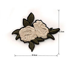ORANGE IRIS WATER LILY Embroidered Sew Iron On Cloth Patch Badge APPLIQUE