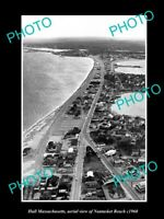 OLD LARGE HISTORIC PHOTO HULL MASSACHUSETTS, AERIAL VIEW NANTASKET BEACH c1960