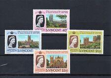 St Vincent 1978 25th Coronation. MNH set