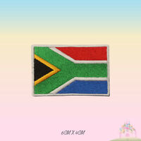 South Africa National Flag Embroidered Iron On Patch Sew On Badge