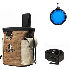 New listing Enkarl Dog Treat Pouch, Dog Treat Bag with Dog Bowl for Training Small to Large