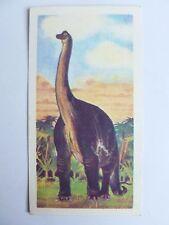 Brooke Bond Prehistoric Animals tea card 12. Brachiosaurus. Dinosaurs.