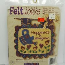 Garden Felt Applique Kit Happiness Is Homegrown Dimensions Feltworks 1995 62025