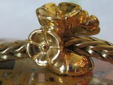 Authentic TrollBeads 18K Solid Gold Forget Me Not Trollbead Style #21262 $1495.
